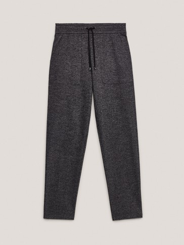 Flecked jogging fit trousers