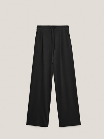 Straight cut jogging trousers