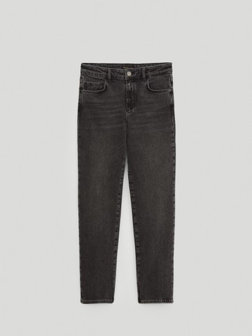 Mid-waist slim-cropped-fit jeans