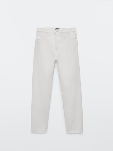 Straight fit high-waist jeans