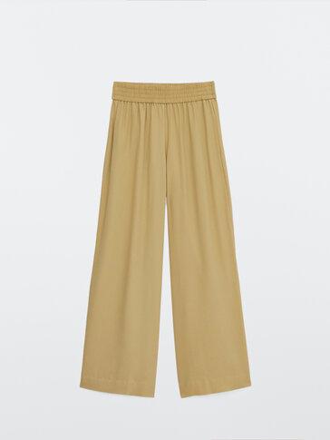 Pantalon fluide à taille élastique