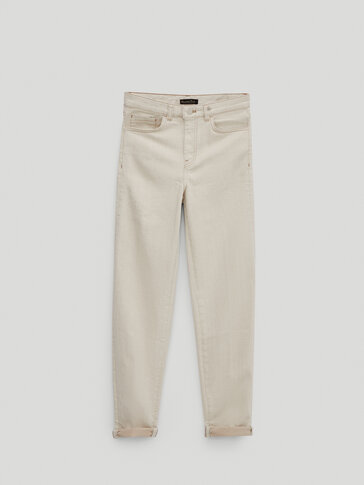 Pantalón vaquero high rise cigarrette fit