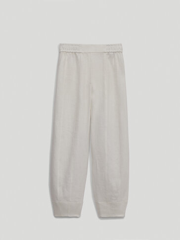 Witte linnen joggingbroek - Limited Edition