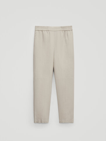 Pantalón lino jogging fit Limited Edition