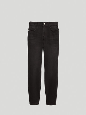 Jean taille moyenne coupe skinny