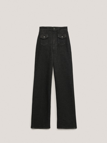 Straight fit jeans with pocket detail