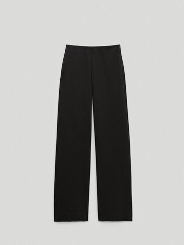 Памучен панталон с широки крачоли