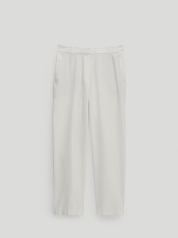 LINNEN BROEK STRAIGHT FIT