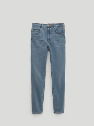 High-waist skinny jeans