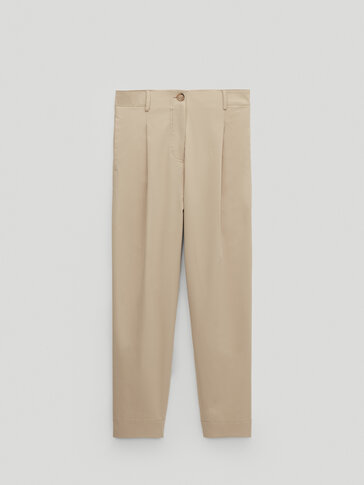 Darted jogging fit trousers