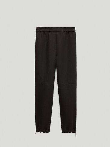 Pantalon en lin coupe jogging Limited Edition