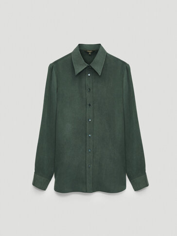 Flowing 100% cupro shirt
