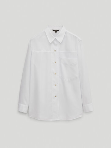 100% lyocell shirt with pocket detail
