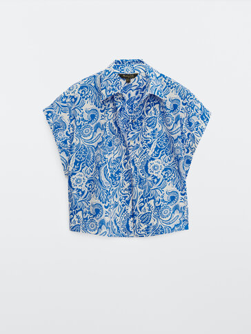 100% cotton paisley shirt