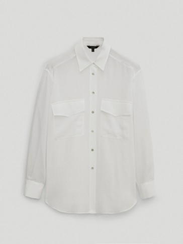 100% cotton shirt with pockets