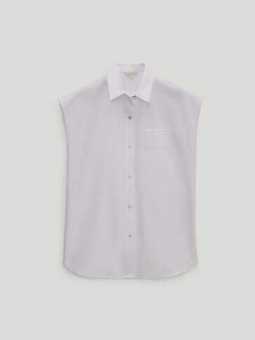 Sleeveless poplin shirt - Limited Edition