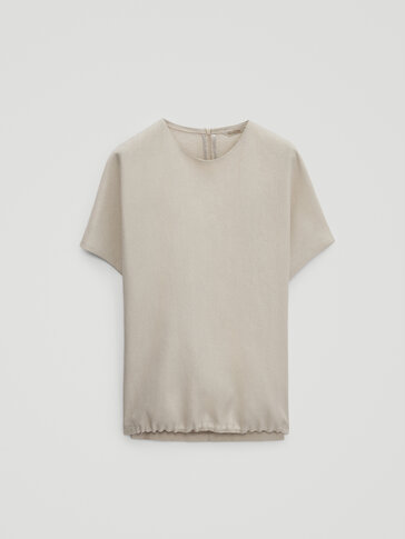 100% linen top with hem detail - Limited Edition