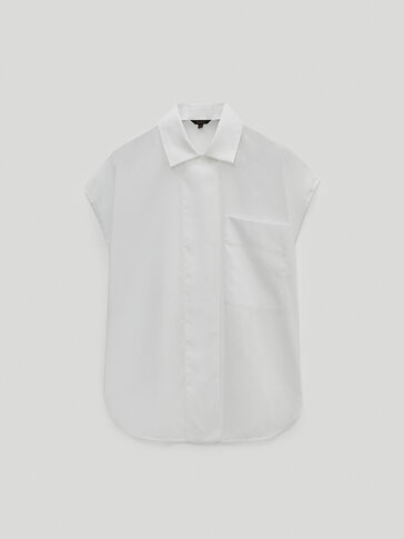 Lyocell cotton sleeveless shirt