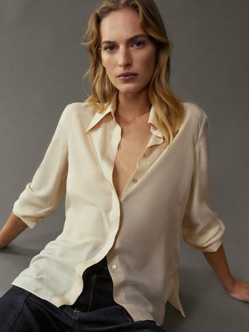 100% silk shirt with cufflinks