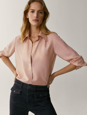 Camisa 100% seda detalle gemelos