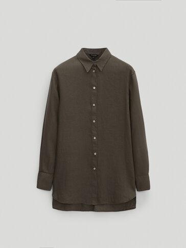 חולצה אוברסייז 100% פשתן