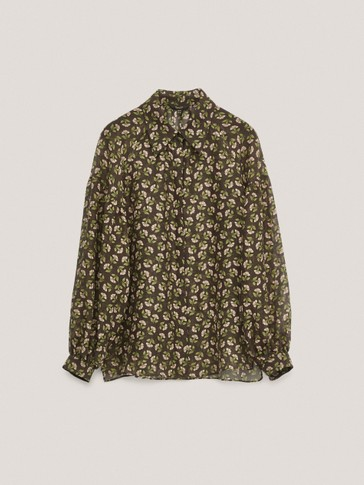Cotton/silk floral shirt