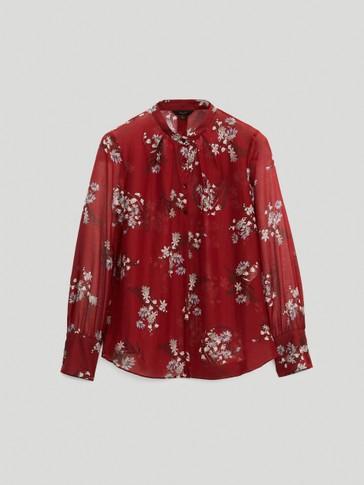 Cotton/silk floral shirt