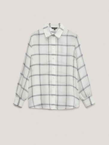 Flowing check shirt