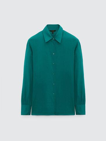 Cotton/silk plain shirt