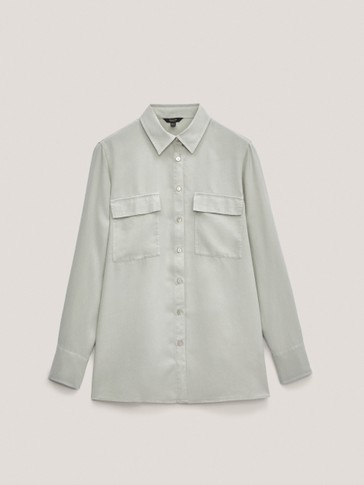 100% lyocell shirt with pockets