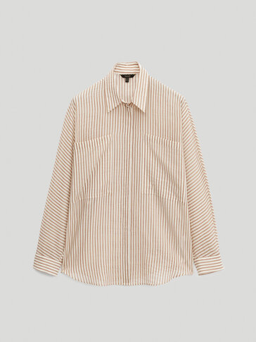 100% cotton striped shirt