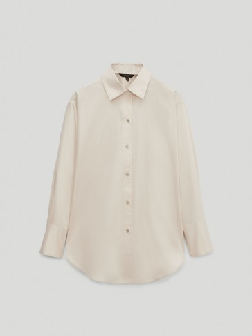 100% cotton satin poplin shirt
