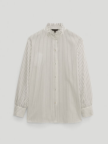 Striped cotton silk shirt