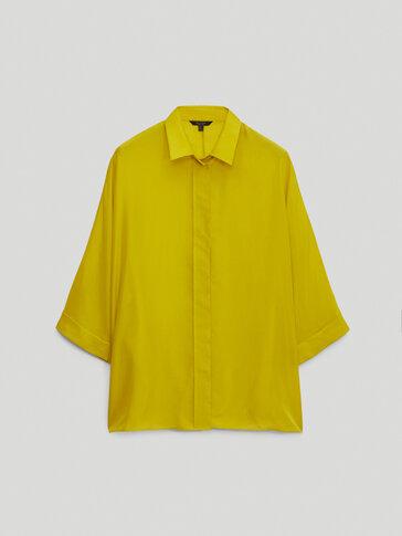 חולצה עשויה 100% משי habotai