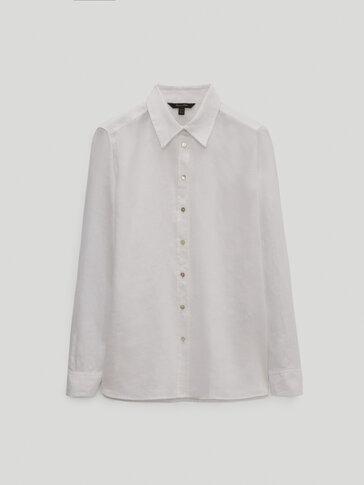 Camisa lisa 100% linho