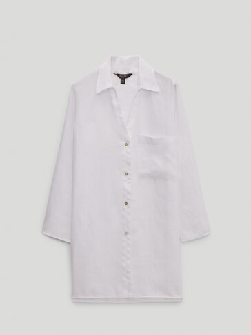 100% linen shirt with pocket
