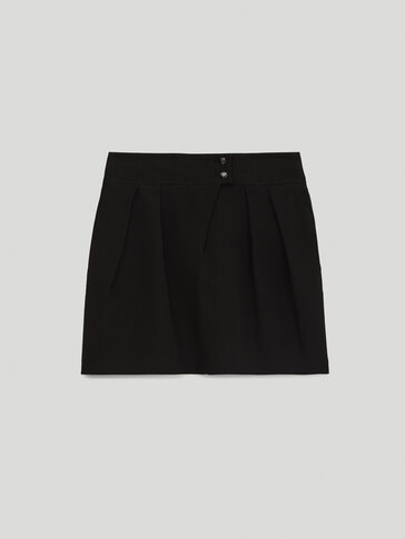Rok mini warna hitam