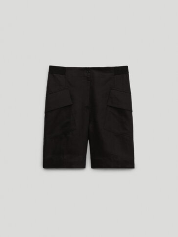 100% linen cargo Bermuda shorts - Limited Edition