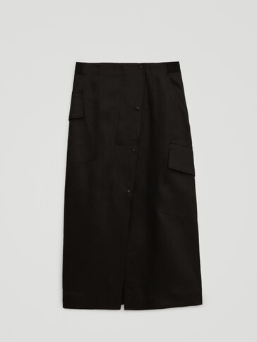 100% linen cargo skirt - Limited Edition