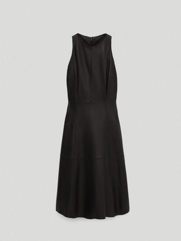 Vestido negro piel napa
