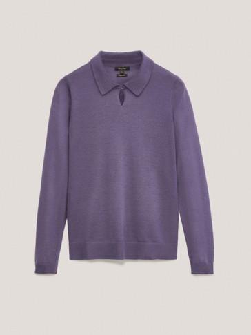 Jersey cuello polo lana lyocell