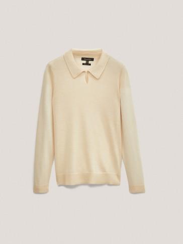 Пуловер с яка от лиосел и вълна