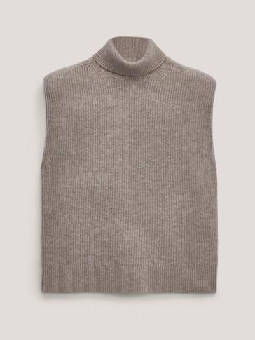 Cashmere wool knit vest
