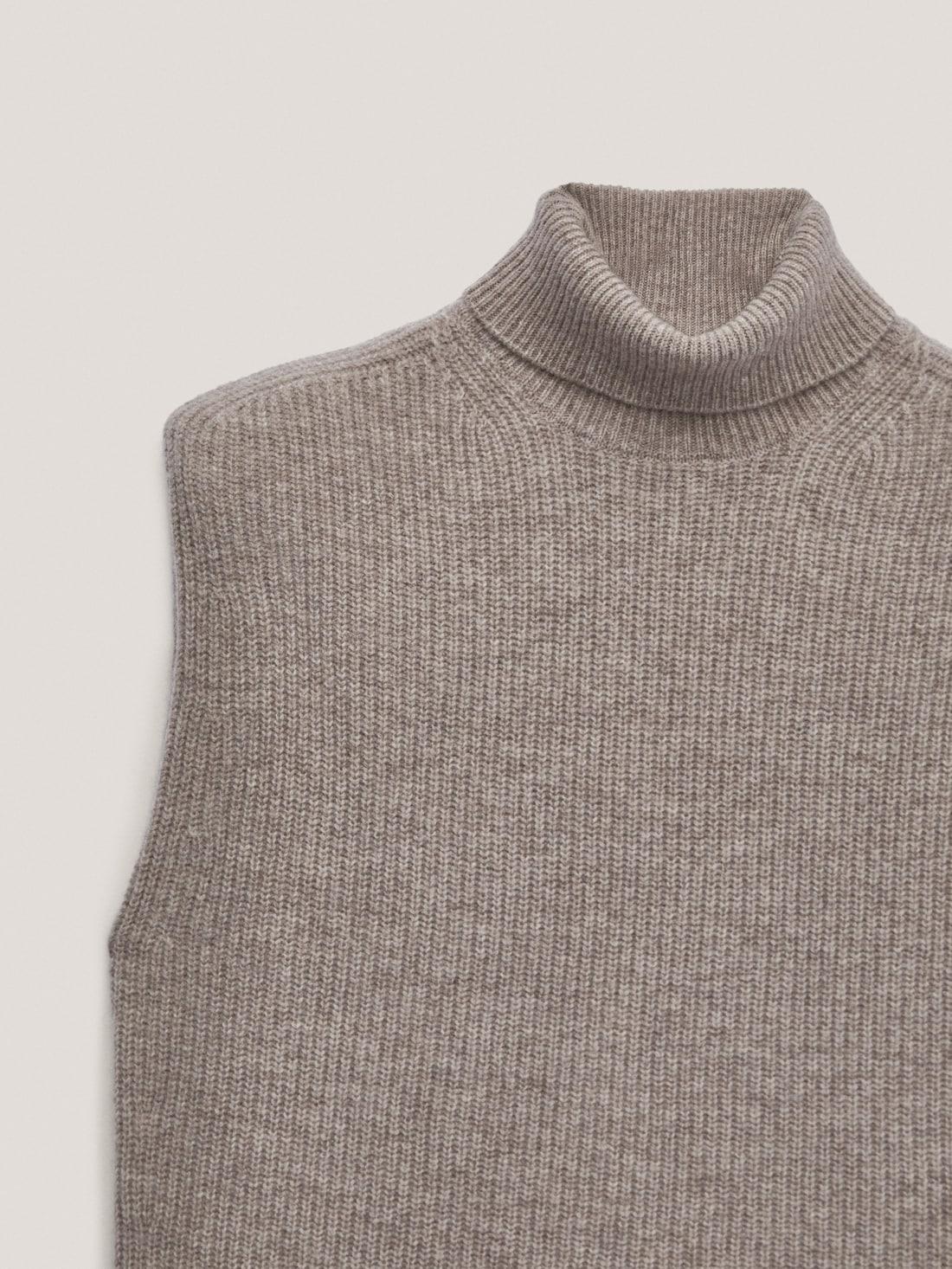 Трикотажный жилет из шерсти и кашемира НОРКА Massimo Dutti