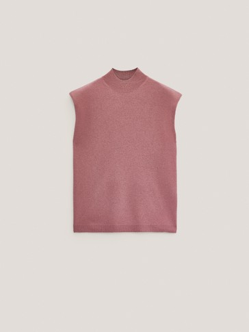 Jersey de punto hombreras lana cashmere
