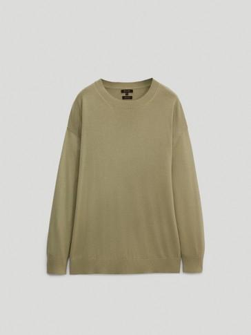 Crew neck boyfriend sweater