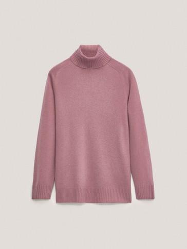 Jersey cuello alto lana cashmere