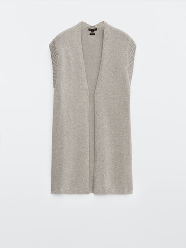 Metallic thread waistcoat