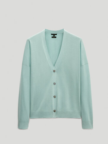 100% cotton short cardigan