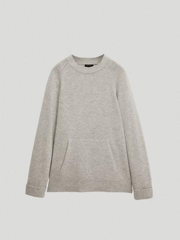 포켓 디테일 오버사이즈 스웨터